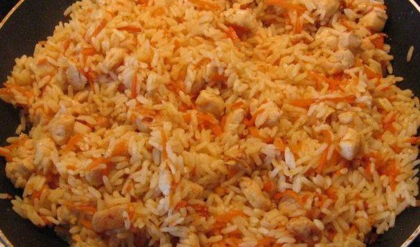Плов быстрого приготовления с курицей — Вторые блюда
