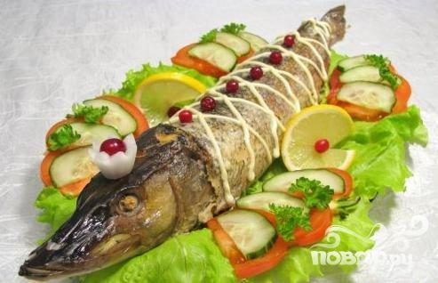 Фаршированная щука — Вторые блюда
