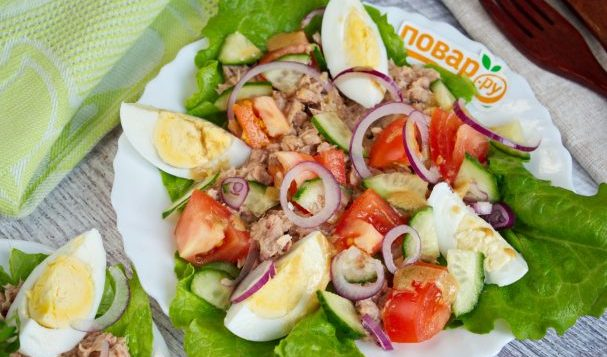 ПП салат с тунцом — салаты