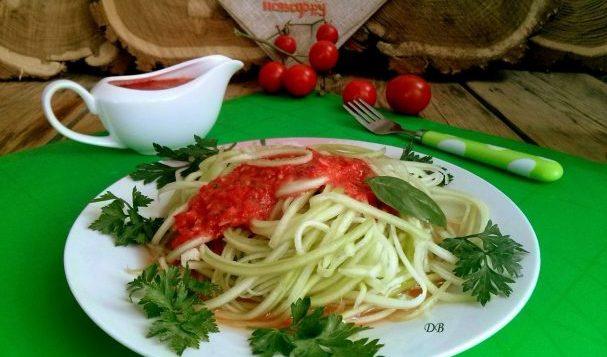 Сыроедческие спагетти — салаты